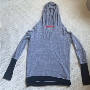 Pure barre long sleeved T-shirt hoodie